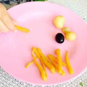 Gulerødder fra vores køkkenhave